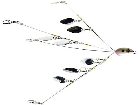"Jenko Fishing J-Pod Double Spin Flash Umbrella Rig 6.5"" Shad Nickel"