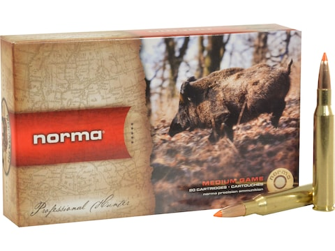 Norma TipStrike Ammunition 280 Remington 160 Grain Polymer Tip Flat Base Box of 20
