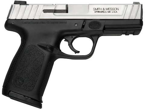 """Smith & Wesson SD9VE Pistol 9mm Luger 4"""" Barrel Stainless, Black"""