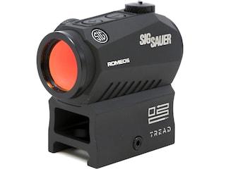 Sig Sauer ROMEO5 Compact Red Dot Sight 1x 20mm 1/2 MOA Adjustments 2 MOA Dot Reticle Picatinny-Style Mount Black Tread Logo
