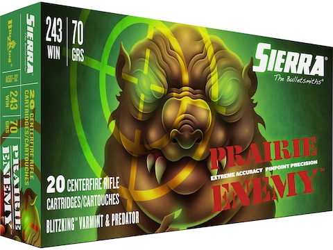 Sierra Prairie Enemy Ammunition 243 Winchester 70 Grain BlitzKing Box of 20