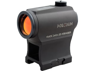 Holosun HS403C Paralow Red Dot Sight 1x 2 MOA Dot Picatinny-Style Low and Lower 1/3 Co-Witness Mounts Solar/Battery Powered Matte