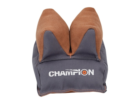 Champion Two-Tone Rear Shooting Rest Bag Nylon and Leather Gray Filled