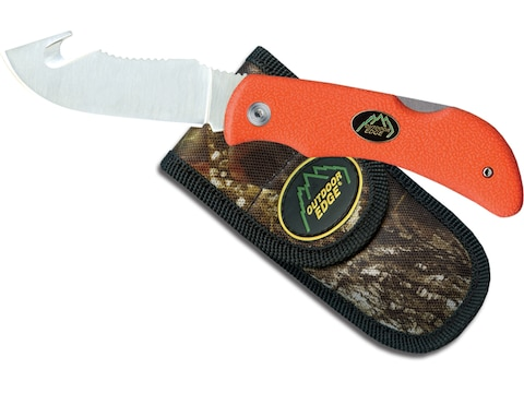 """Outdoor Edge Grip-Hook Folding Knife 3.2"""" Drop Point with Gut Hook AUS-8 Stainless Stee..."""