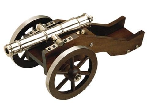 "Traditions Mini Yorktown Black Powder Cannon 50 Caliber 7.375"" Nickel Barrel Hardoods C..."