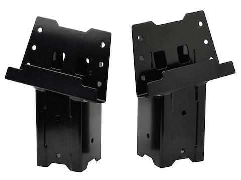HME Elevated Blind Brackets Steel Black 4 Pack