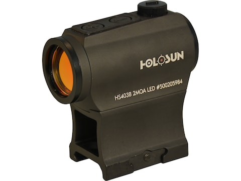 Holosun HS403B Paralow Red Dot Sight 1x 2 MOA Dot Picatinny-Style Low and Lower 1/3 Co-...