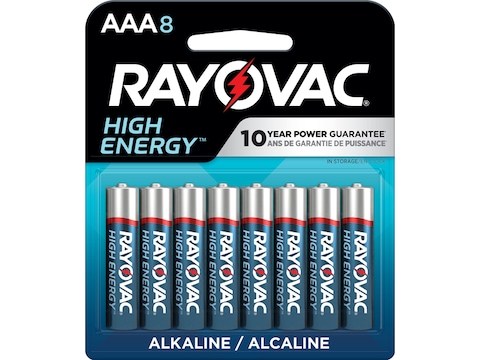 Rayovac High Energy Battery AAA 1.5 Volt Alkaline Pack of 8