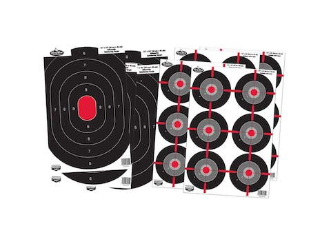 "Birchwood Casey Dirty Bird Combo Package of 4-12"" x 18"" Blue/Orange Silhouette Target a..."