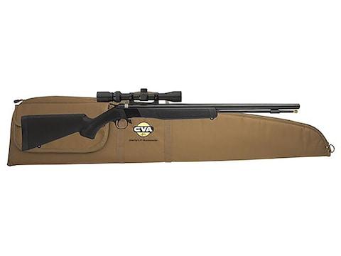"CVA Wolf Muzzleloading Rifle 50 Caliber with KonuShot 3-9x32mm Scope 24"" Barrel Synthet..."