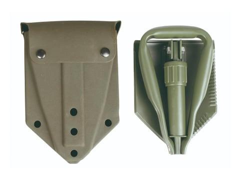 Military Surplus German Tri-Folding Shovel With Cover Grade 2