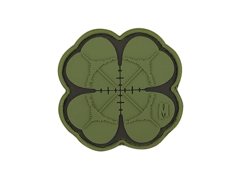 "Maxpedition Lucky Shot Clover PVC Morale Patch 2"" x 2"""