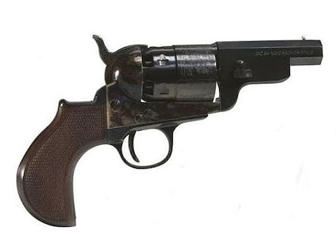 "Pietta 1851 Navy Snub Nose Black Powder Revolver 36 Caliber 3"" Barrel Case Hardened Ste..."
