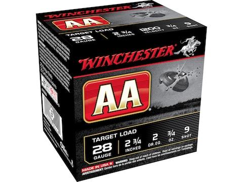 """Winchester AA Target Ammunition 28 Gauge 2-3/4"""" 3/4 oz"""