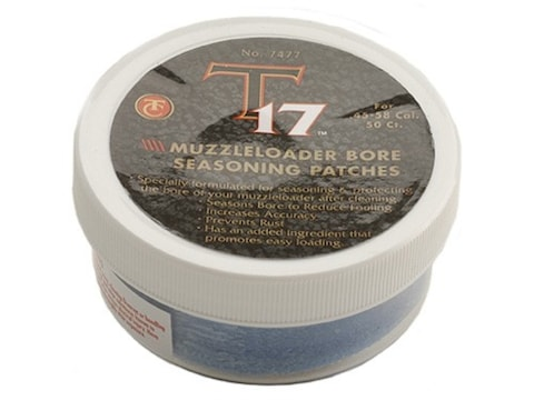 Thompson Center T17 Black Powder Cleaning and Seasoning Patches