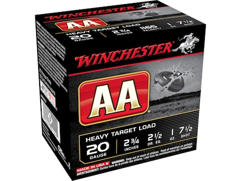 "Winchester AA Heavy Target Ammunition 20 Gauge 2-3/4"" 1 oz"