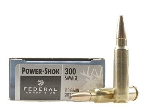Federal Power-Shok Ammunition 300 Savage 150 Grain Soft Point