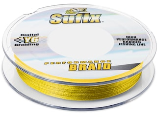 Sufix Performance Braided Fishing Line 6lb 300yd Hi-Vis Yellow