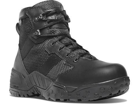 "Danner Scorch 6"" Side-Zip Tactical Boots Leather/Nylon Black Men's"