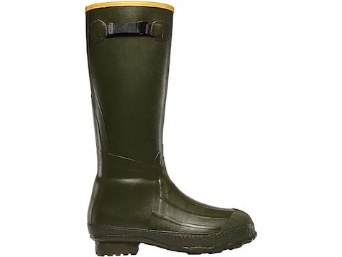 """LaCrosse Burly Classic 18"""" Hunting Boots Rubber OD Green Men's"""