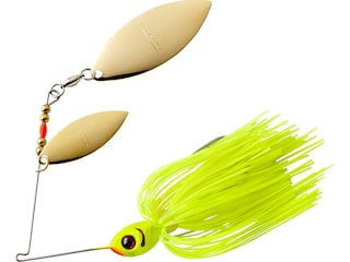 BOOYAH Blade Double Willow Spinnerbait 3/8oz Chartreuse Gold