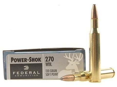 Federal Power-Shok Ammunition 270 Winchester 130 Grain Soft Point Box of 20