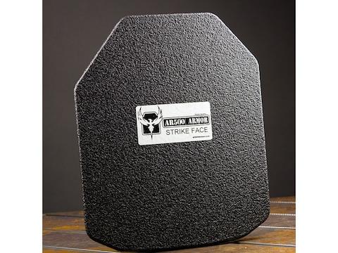 AR500 Body Armor Stand Alone Ballistic Plate III+ Shooter's Cut Steel