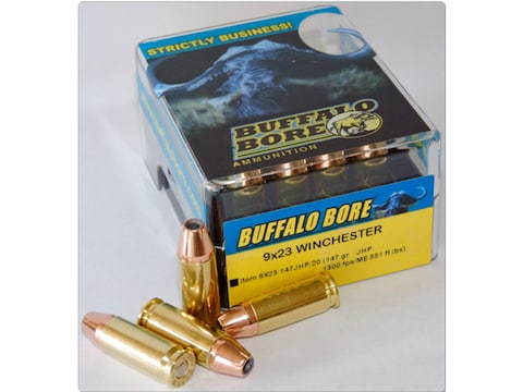 Buffalo Bore Ammunition 9x23mm Winchester 147 Grain Jacketed Hollow Point Box of 20