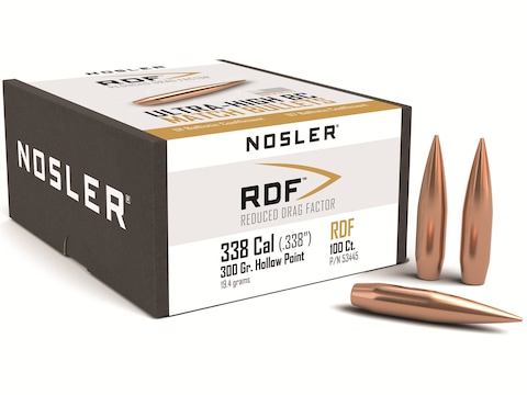 Nosler RDF Bullets Hollow Point Boat Tail