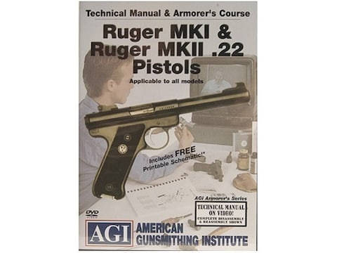 "American Gunsmithing Institute (AGI) Technical Manual & Armorer's Course Video ""Ruger M..."