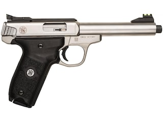 """Smith & Wesson SW22 Victory Pistol 22 Long Rifle 5.5"""" Threaded Barrel 10-Round Stainless"""