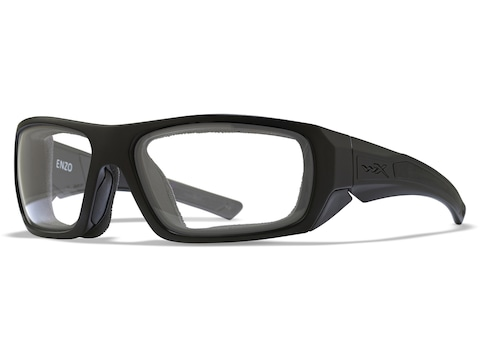 Wiley X WX Enzo Shooting Glasses Gloss Black Frame/Clear Lens