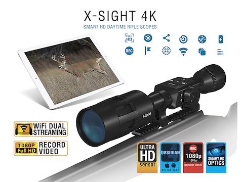 ATN X-Sight 4K Buck Hunter Smart HD Digital Day Time Rifle Scope 5-20x with HD Video Re...
