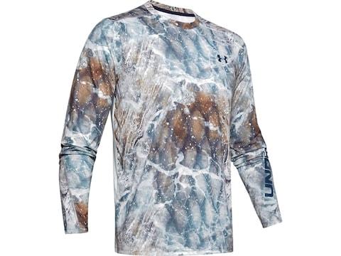 Under Armour Men's Iso-Chill Shore Break Camo Long Sleeve Shirt Polyester