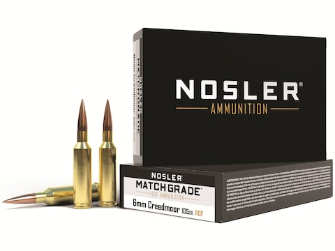 Nosler Match Grade Ammunition 260 Remington 130 Grain RDF Hollow Point Boat Tail Box of 20