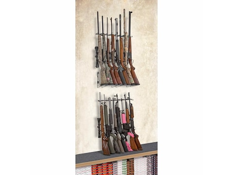 Rack'Em Racks 16 Rifle Double Decker Vertical Rifle Display 2-Rifle Barrel Rests and 1-...
