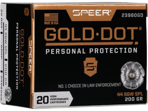Speer Gold Dot Ammunition 44 Special 200 Grain Jacketed Hollow Point