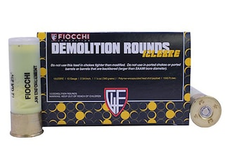 "Fiocchi Special Application Breaching Ammunition 12 Gauge 2-3/4"" 540 Grain Polymer Encapsulated Lead Shot Box of 10"
