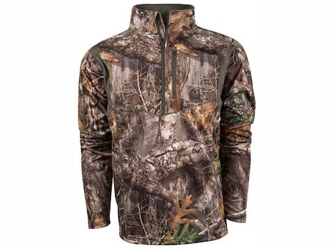 King's Camo Men's Hunter 1/4 Zip Long Sleeve Shirt Polyester