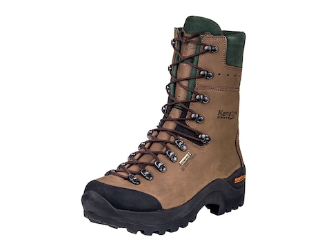 """Kenetrek Mountain Guide 10"""" Insulated Hunting Boots Leather Brown"""