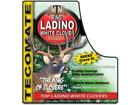 Tecomate King Ladino White Clover Plus Perennial Food Plot Seed 3.25 lb