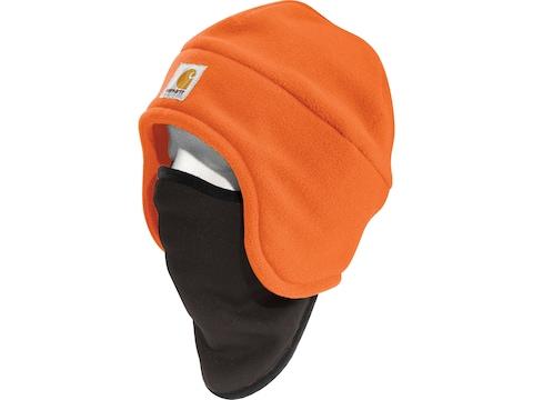 Carhartt Men's Fleece 2 in 1 Beanie Polyester Bright Orange One Size Fits All