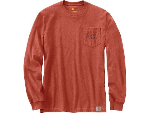 Carhartt Men's Original Fit Heavyweight Pocket Rugged Workwear Graphic Long Sleeve T-Shirt