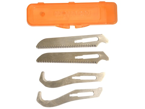 Havalon Piranta Replacement Gut Hook/Saw Blade Combo Pack of 4 (2 of Each)