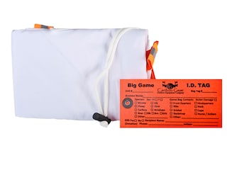 """Caribou Gear Large Quarter Game Meat Bag 60"""" x 28"""" Synthetic Blend White"""