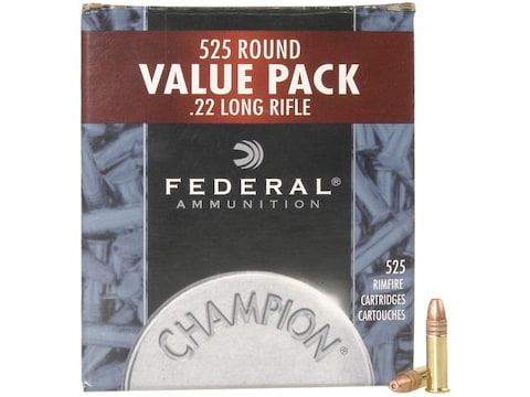 Federal Champion Ammunition 22 Long Rifle 36 Grain Plated Lead Hollow Point