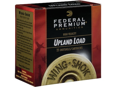 "Federal Premium Wing-Shok Ammunition 28 Gauge 2-3/4"" 3/4 oz Buffered Copper Plated Shot"