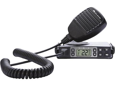Midland MXT105 MICROMOBILE GMRS 2-Way Radio with NOAA Combo Black