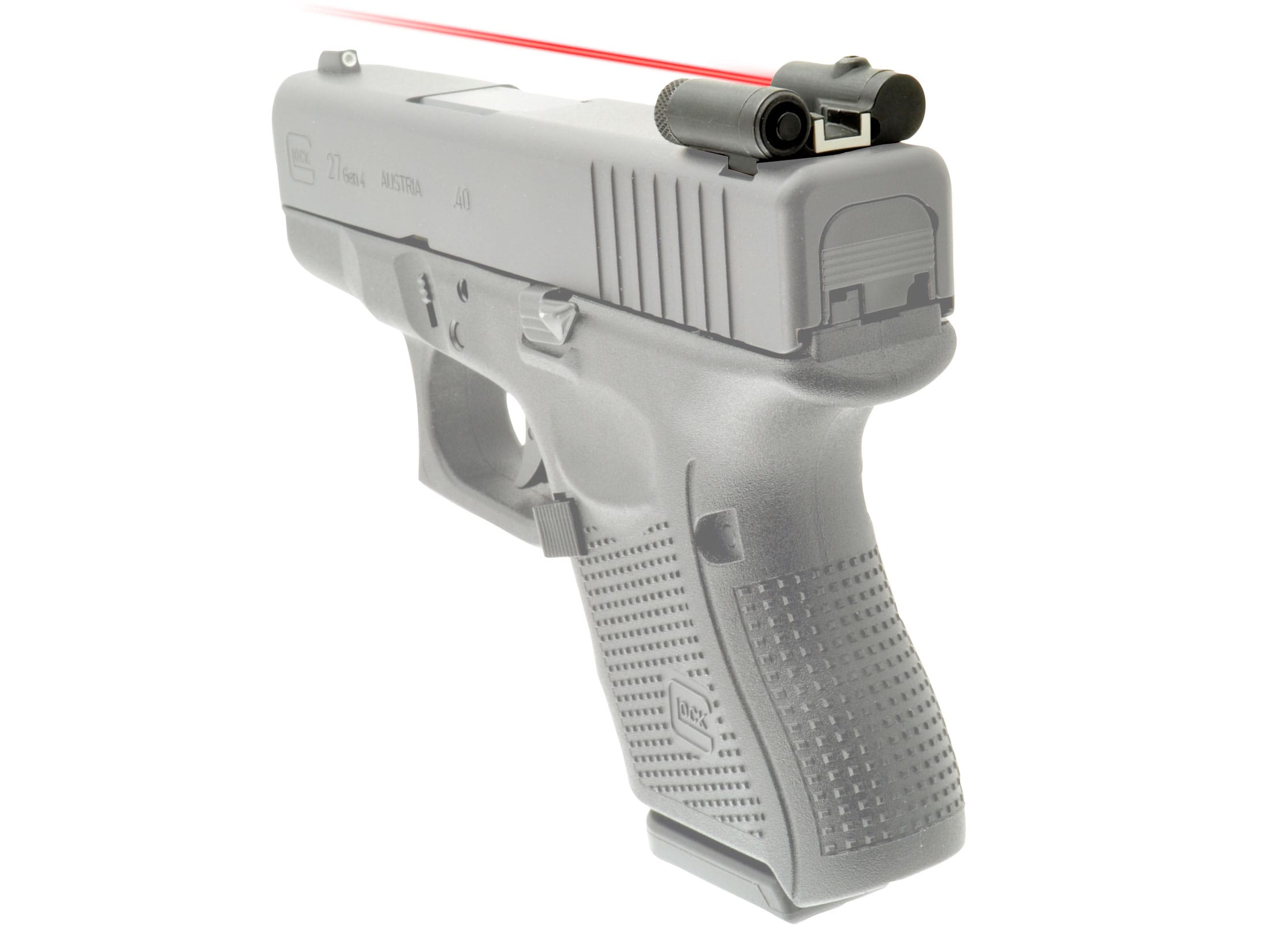LaserLyte Rear Sight Red Laser Glock All Models Matte