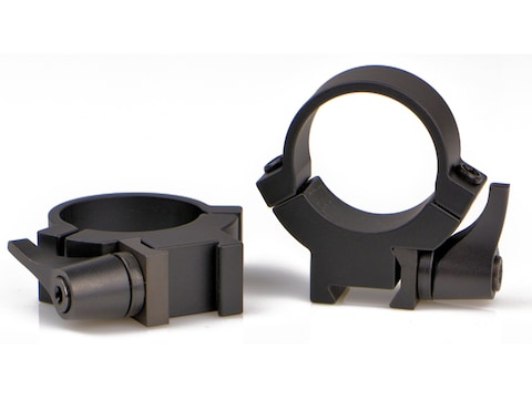 "Warne 1"" Rimfire Quick Detach Picatinny Rings 3/8"" or 11mm Dovetail Matte Medium"